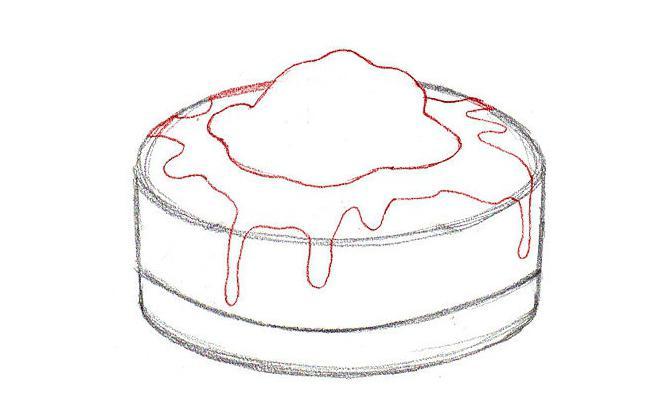 черная или как нарисовать торт карандашом фото аварии