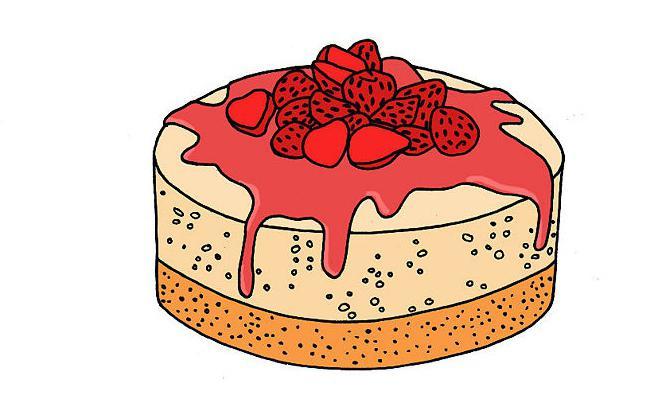 как нарисовать торт карандашом