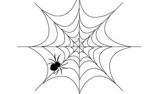 Как нарисовать паука с паутиной