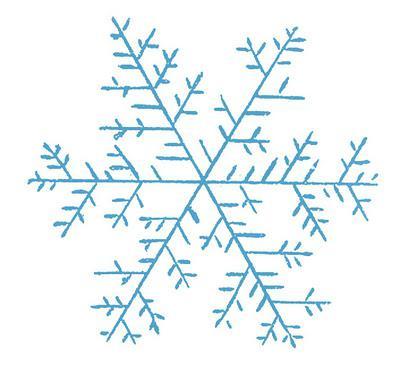 как нарисовать снежинки на бумаге