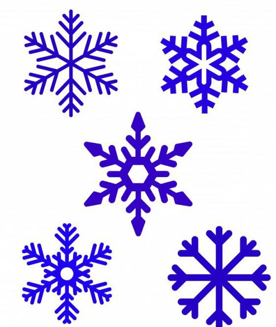 как нарисовать простую снежинку