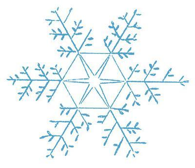 нарисовать снежинку