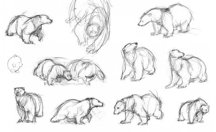 как нарисовать белых медведей