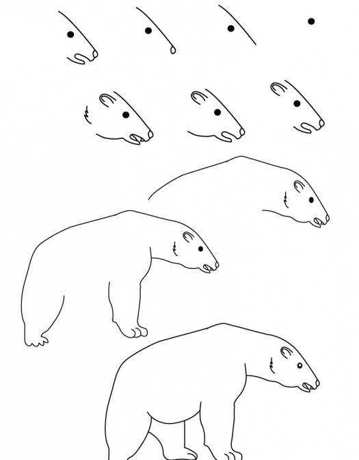 Медведи тедди нарисовать 114