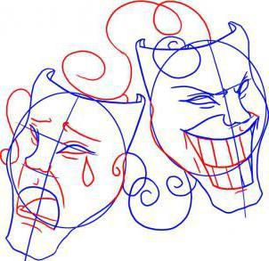 как нарисовать театральную маску