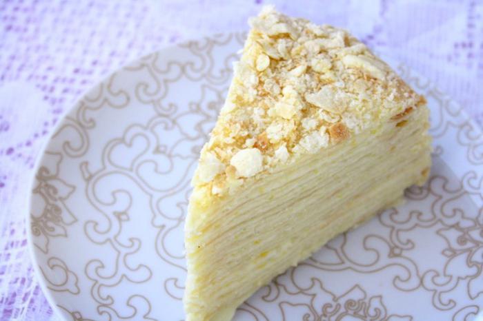торт из сгущенки на сковороде со сметанным кремом рецепт