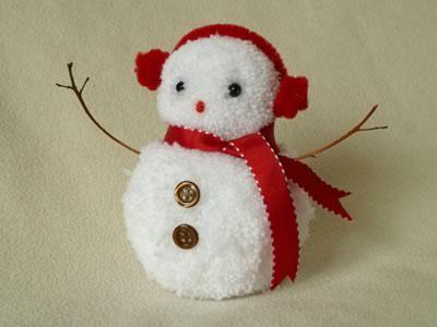 Как легко сделать снеговика своими руками