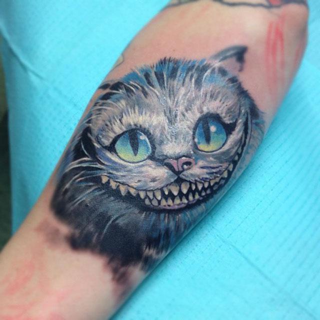 чеширский кот картинки тату