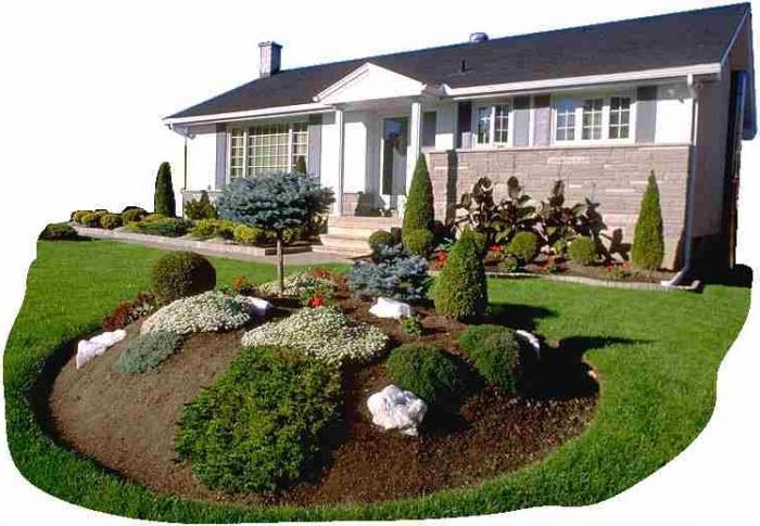 Ландшафтный дизайн загородного участка с домом фото