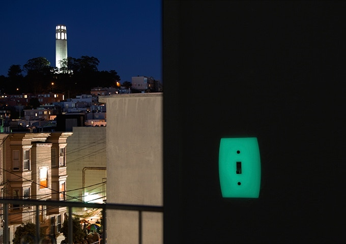 Glowing switch