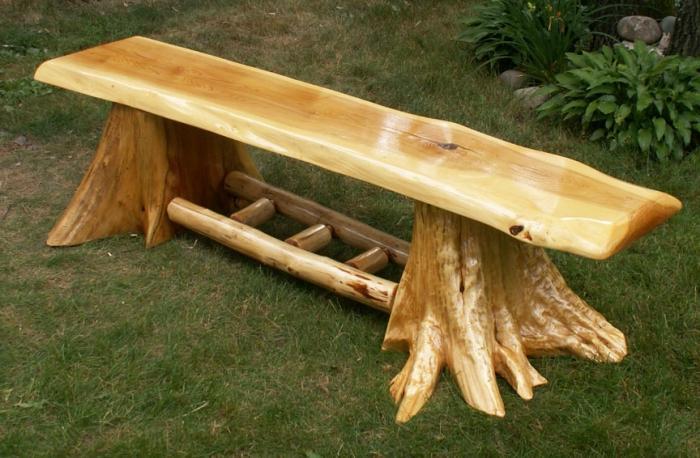 Как сделать скамейку из бревен своими руками фото 84