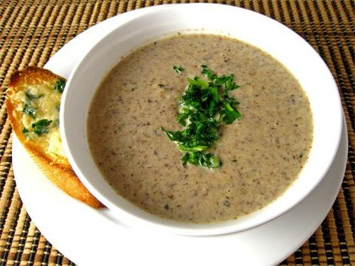 крем суп из свежих шампиньонов рецепты