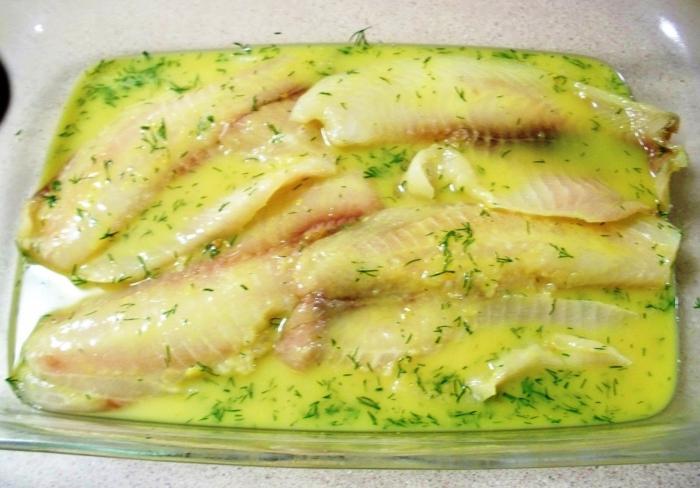 рыба в маринаде в духовке классический рецепт