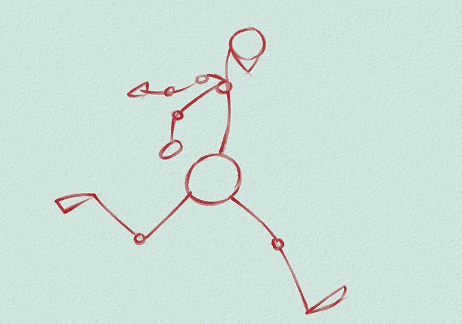 как нарисовать футболиста