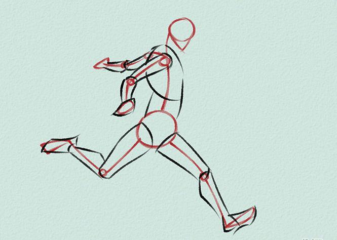как нарисовать футболиста в движении