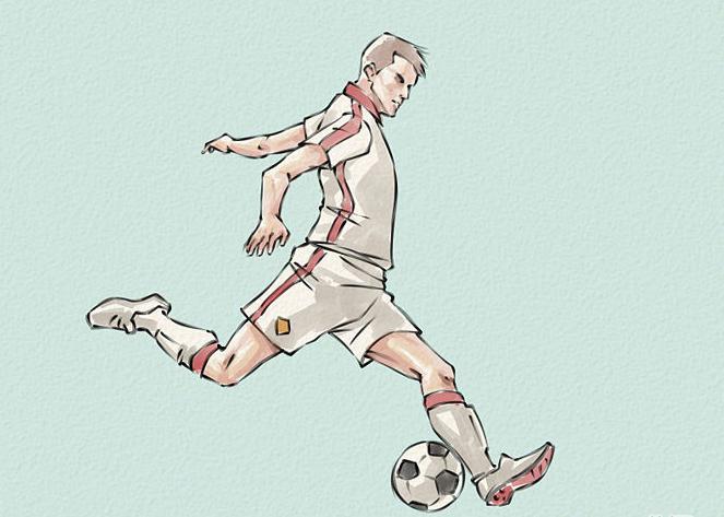 как нарисовать футболиста карандашом поэтапно