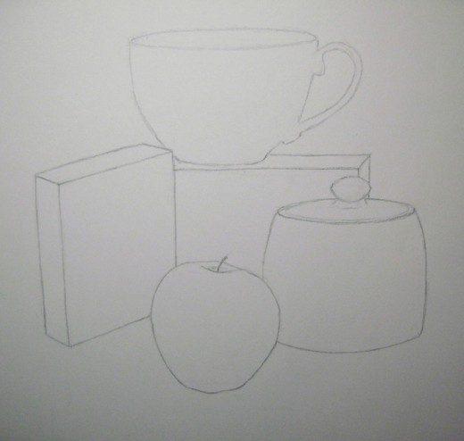 натюрморт карандашом поэтапно для начинающих