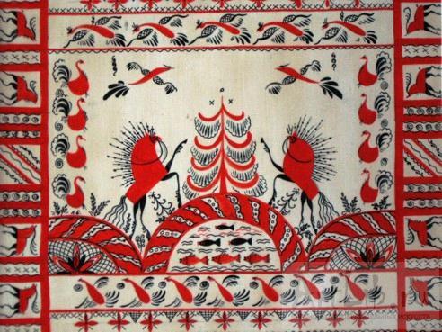 мезенской росписи