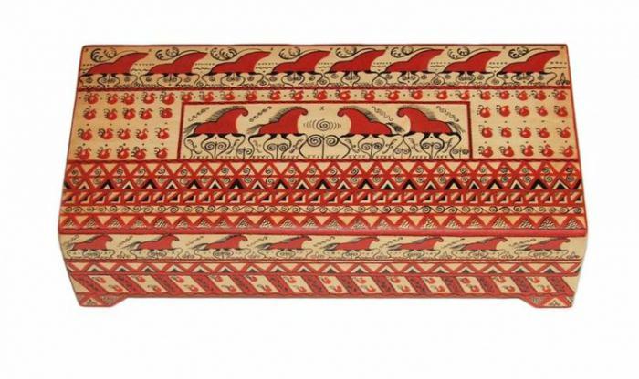 мезенская роспись орнаменты