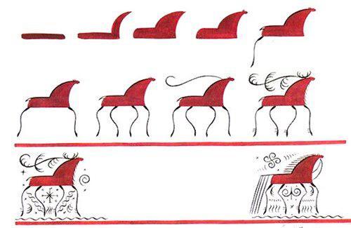 символы мезенской росписи