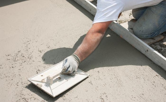 Железнение бетонного пола своими руками видео