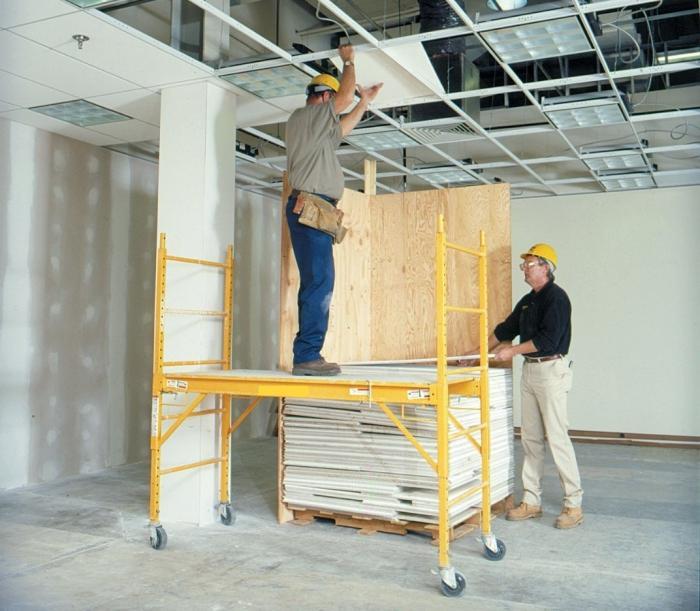 Монтаж и демонтаж потолка Армстронг 56