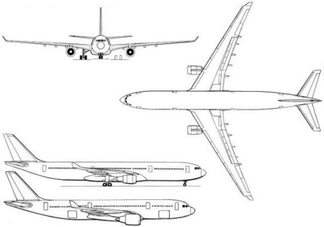а 330 самолет схема