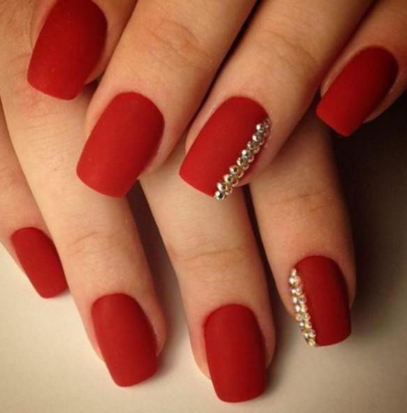 гель лак на ногтях красный фото