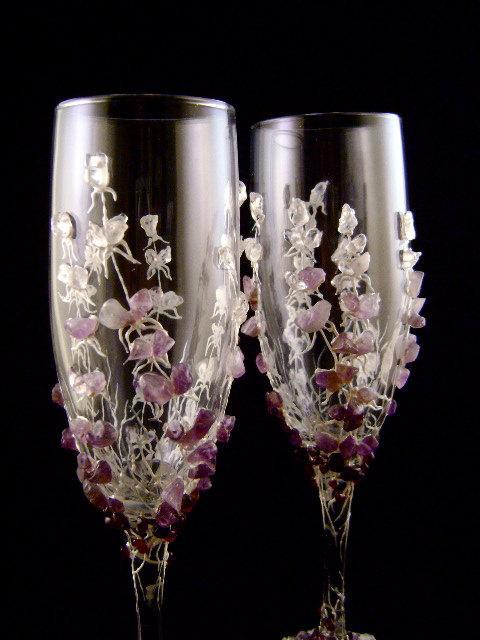 Свадебные бокалы ручной работы. Какие они?