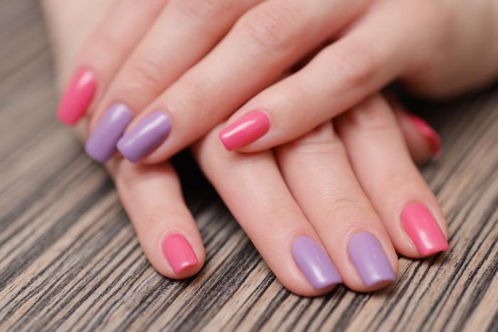 Ногти дизайн однотонные разных цветов