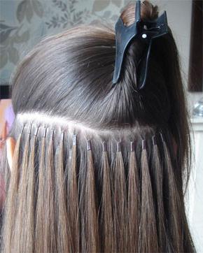 наращивание волос холодным способом