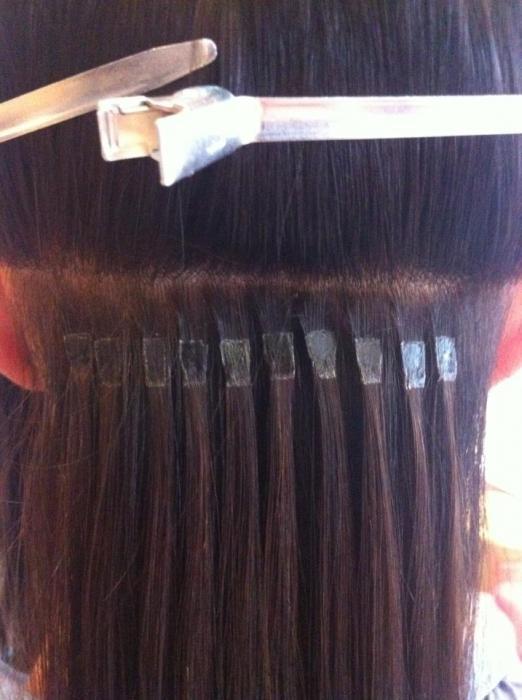 холодное наращивание волос фото