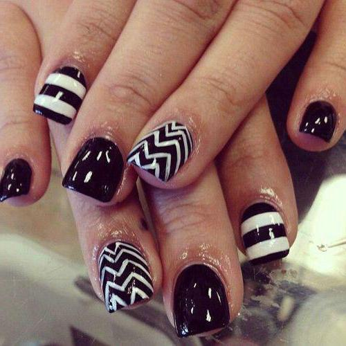 ногти черные гель дизайн