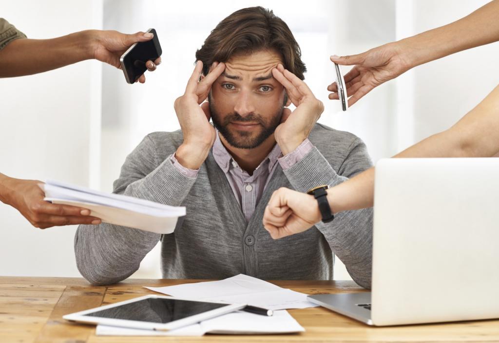 Стресс из-за работы