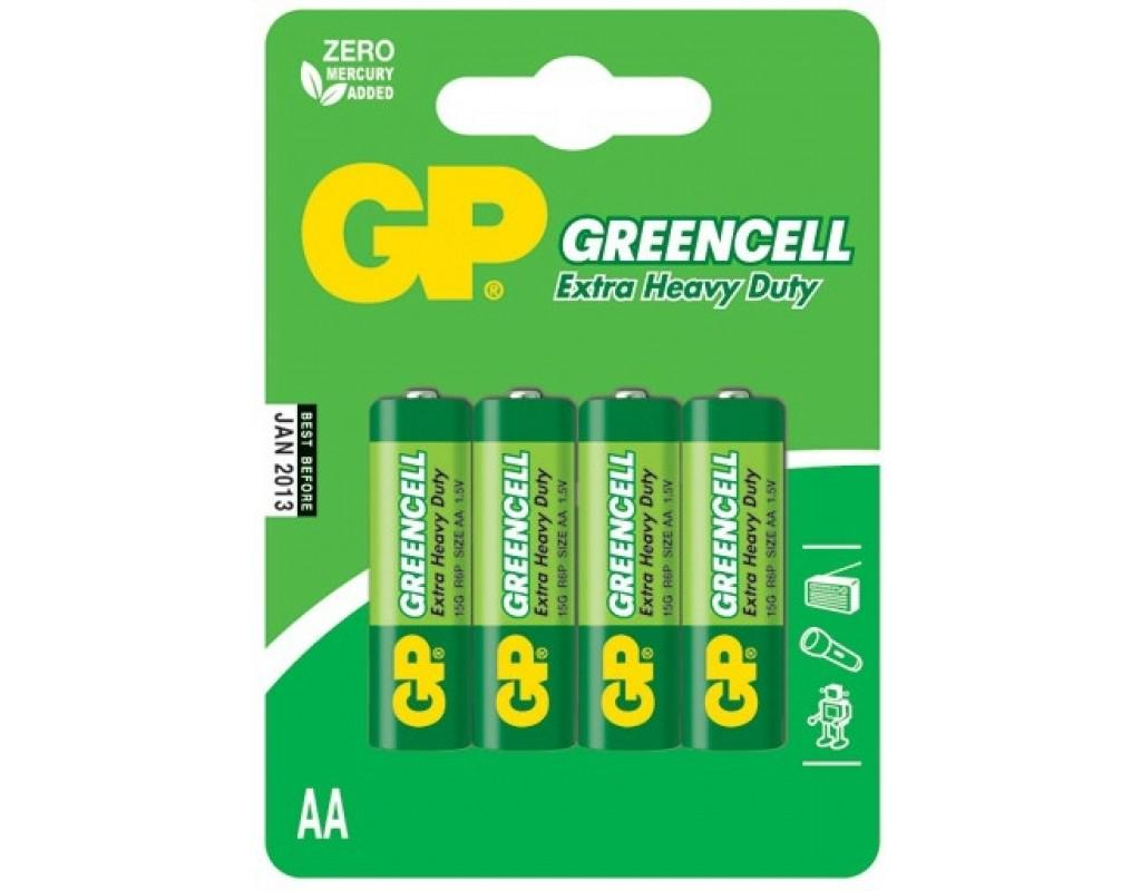 Батарейки GP GreenCell 15G.