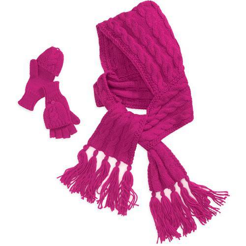 шарф капюшон спицами схема вязания
