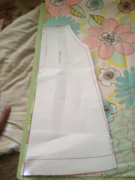 выкройка платья трапеция с рукавом