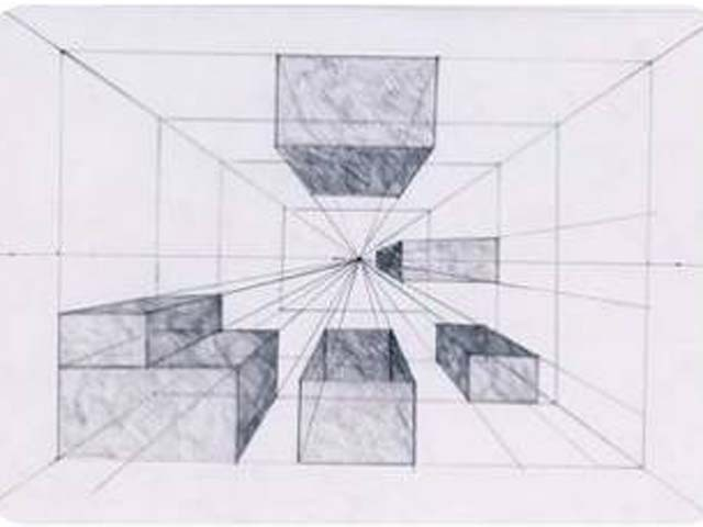 перспектива в рисунке: