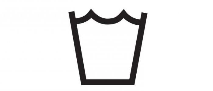 обозначение на одежде знаком для стирки