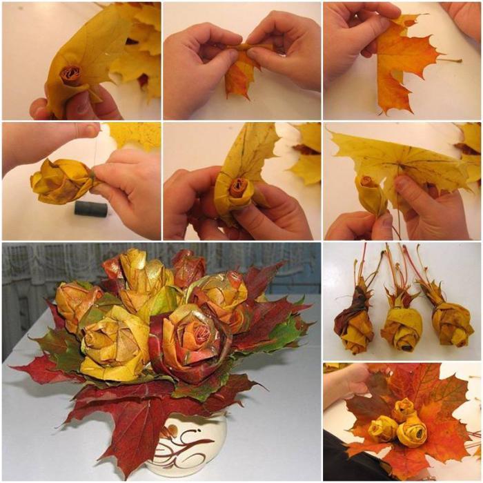 Поделки из клёновых листьев 775