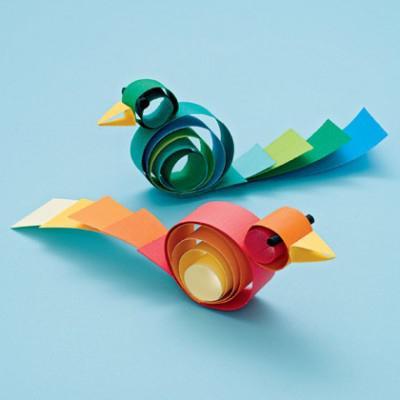Объемные птички из бумаги своими руками для детей
