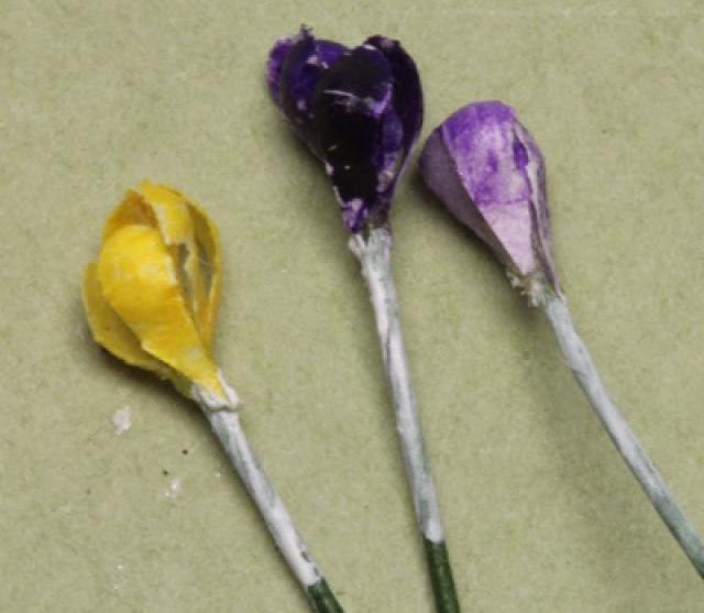первоцветы из бумаги своими руками