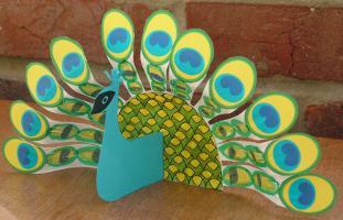 поделка «птичка» своими руками