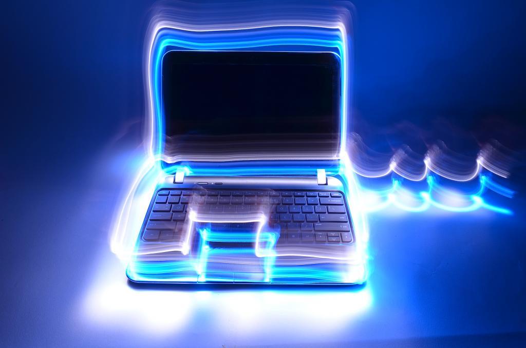 Красивая подсветка ноутбука