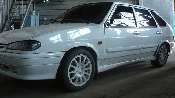 Lada 2114 белая фото