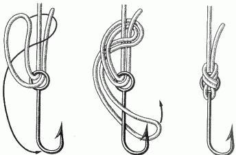 узел для привязывания крючка
