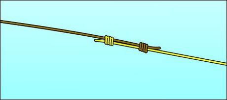 Как привязать шнур к леске