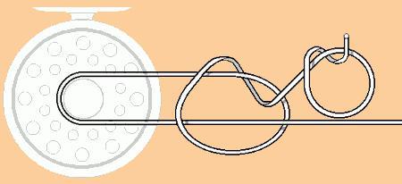 Как привязать шнур к катушке