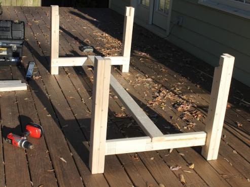 Как сделать стол из досок своими руками для дачи 728