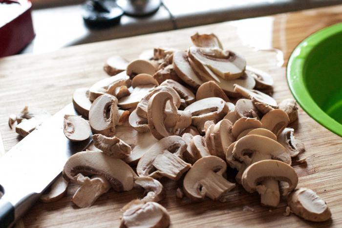 картошка мясо грибы в духовке